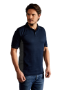 Herren Function Contrast Polo navy-hell grau